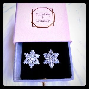 Snowflake Crystal Earrings by Fairytale &Company❄️